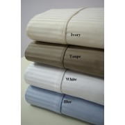 1000TC California King Waterbed Sheet Set (Stripe)