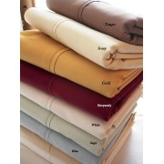 300TC Egyptian Cotton California King Waterbed Sheet Set (Solid)