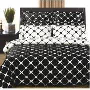 Bloomingdale Reversible Black/White Duvet Cover & Sheets - Queen