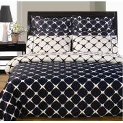 Bloomingdale Reversible Navy Blue/White Duvet Cover & Sheets - Queen