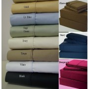 600TC California King Waterbed Sheet Set (Solid)