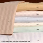 600TC Egyptian Cotton Sheet Set - Full / Double (Sateen/Stripe)