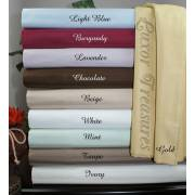 650TC Egyptian Cotton Olympic Queen Sheet Set (Stripe)