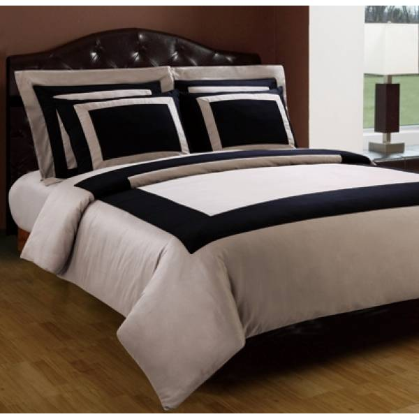 300tc Twin Xl Black With Raw Sugar Bed In A Bag 7 Pc