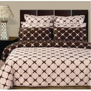 Bloomingdale Reversible Blush/Chocolate Duvet Cover & Sheets - Cal King