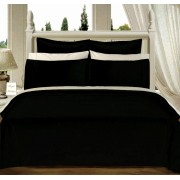 550TC Black Olympic Queen Bed-in-A-Bag With Comforter - 8-PC