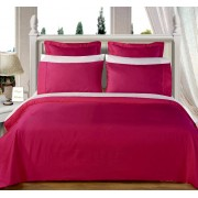 550TC Burgundy Olympic Queen Bed-in-A-Bag With Comforter - 8-PC