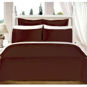 550TC Chocolate Olympic Queen Bed In A Bag with Comforter - 8-PC