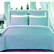 550TC Light Blue Olympic Queen Bed-in-A-Bag With Comforter - 8-PC