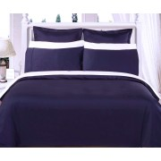 550TC Navy Olympic Queen Bed in a Bag With Comforter - 8-PC
