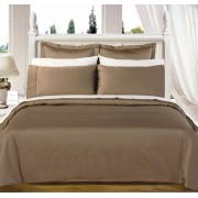 550TC Taupe Olympic Queen Bed-in-A-Bag With Comforter - 8-PC