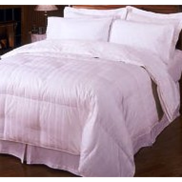 300tc cal king egyptian cotton down comforter stripe. Black Bedroom Furniture Sets. Home Design Ideas