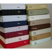 600TC Egyptian Cotton Sheet Set - King (Sateen/Stripe)