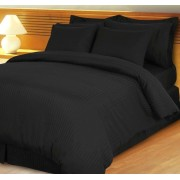 600TC Black Stripe Bed in a Bag – 8PC – Cal King