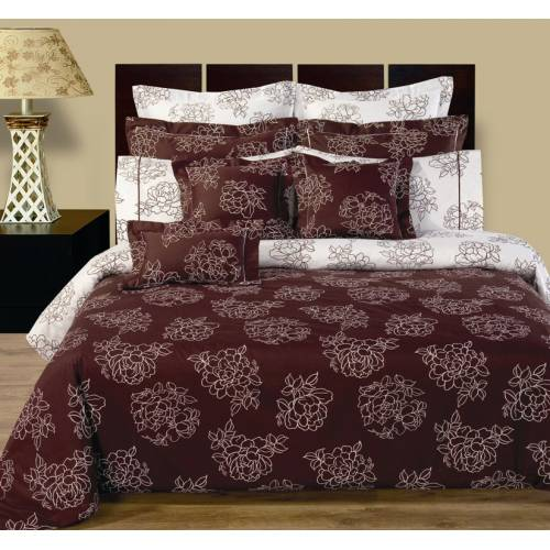 Cloverdale Reversible Egyptian Cotton Bed In A Bag 12pc Cal King